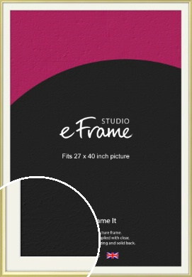 Contemporary Gold Picture Frame & Mount, 27x40