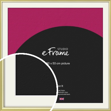Contemporary Gold Picture Frame & Mount, 50x50cm (VRMP-A038-M-50x50cm)
