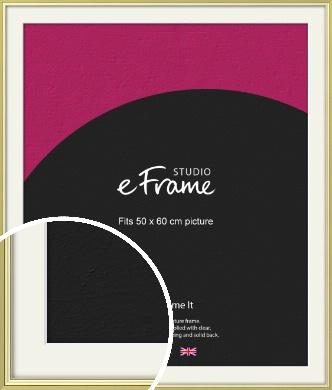 Contemporary Gold Picture Frame & Mount, 50x60cm (VRMP-A038-M-50x60cm)