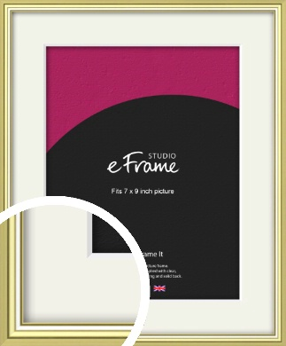 Contemporary Gold Picture Frame & Mount, 7x9