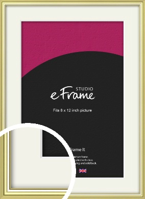 Contemporary Gold Picture Frame & Mount, 8x12