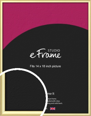 Glamorous Modern Gold Picture Frame, 14x18