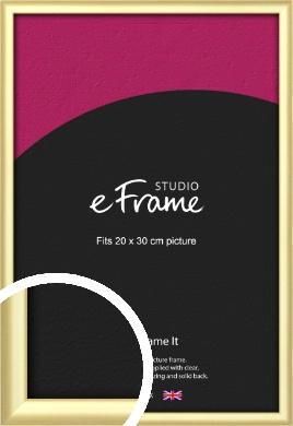 Glamorous Modern Gold Picture Frame, 20x30cm (8x12