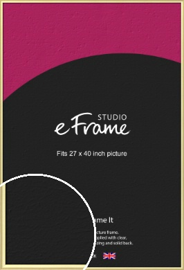 Glamorous Modern Gold Picture Frame, 27x40