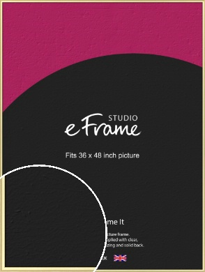 Glamorous Modern Gold Picture Frame, 36x48