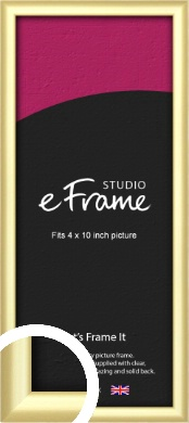 Glamorous Modern Gold Picture Frame, 4x10