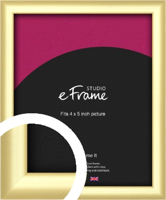 Glamorous Modern Gold Picture Frame, 4x5