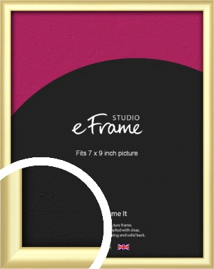Glamorous Modern Gold Picture Frame, 7x9