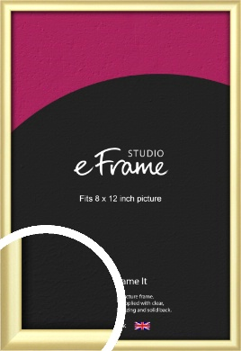 Glamorous Modern Gold Picture Frame, 8x12