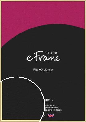Glamorous Modern Gold Picture Frame, A0 (841x1189mm) (VRMP-A039-A0)