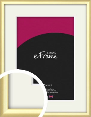 Glamorous Modern Gold Picture Frame & Mount (VRMP-A039-M)