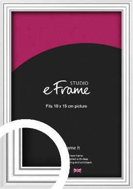 Curved & Stepped Silver Picture Frame, 10x15cm (4x6