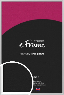 Curved & Stepped Silver Picture Frame, 16x24