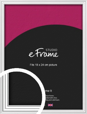 Curved & Stepped Silver Picture Frame, 18x24cm (VRMP-A040-18x24cm)