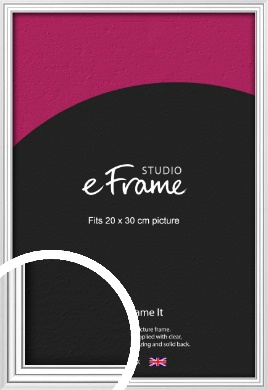 Curved & Stepped Silver Picture Frame, 20x30cm (8x12