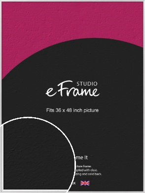 Curved & Stepped Silver Picture Frame, 36x48