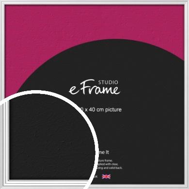 Curved & Stepped Silver Picture Frame, 40x40cm (VRMP-A040-40x40cm)