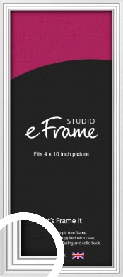 Curved & Stepped Silver Picture Frame, 4x10