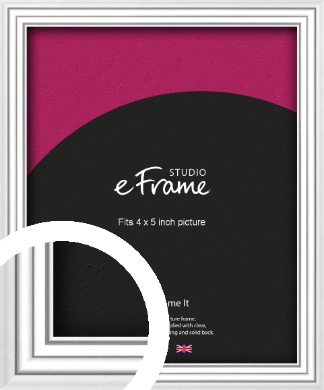 Curved & Stepped Silver Picture Frame, 4x5