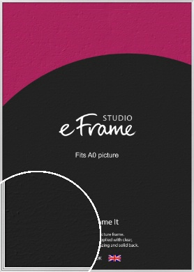Curved & Stepped Silver Picture Frame, A0 (841x1189mm) (VRMP-A040-A0)