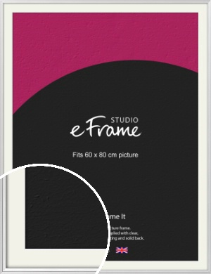 Curved & Stepped Silver Picture Frame & Mount, 60x80cm (VRMP-A040-M-60x80cm)