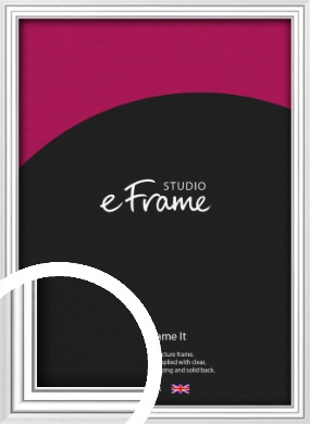 Curved & Stepped Silver Picture Frame (VRMP-A040)