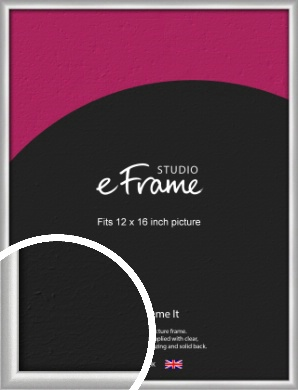 Curved Silver Picture Frame, 12x16