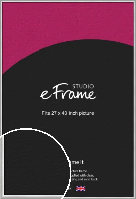 Curved Silver Picture Frame, 27x40