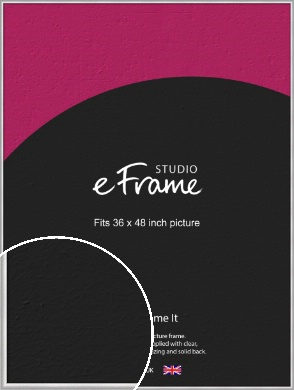Curved Silver Picture Frame, 36x48