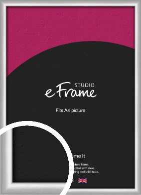 Curved Silver Picture Frame, A4 (210x297mm) (VRMP-A041-A4)