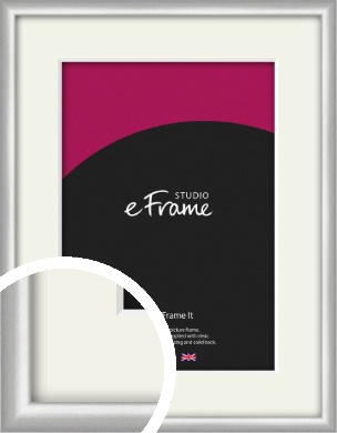 Curved Silver Picture Frame & Mount (VRMP-A041-M)