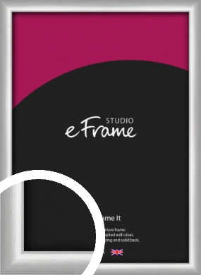 Curved Silver Picture Frame (VRMP-A041)