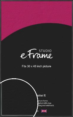 Polished Dark Black Picture Frame, 30x48