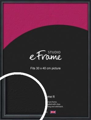 Narrow Modern Black Picture Frame, 30x40cm (VRMP-A043-30x40cm)