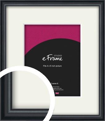 Narrow Modern Black Picture Frame & Mount, 4x5
