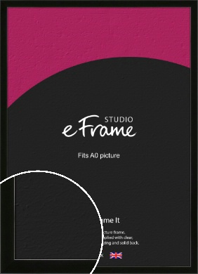 Refined Linear High Gloss Black Picture Frame, A0 (841x1189mm) (VRMP-849-A0)