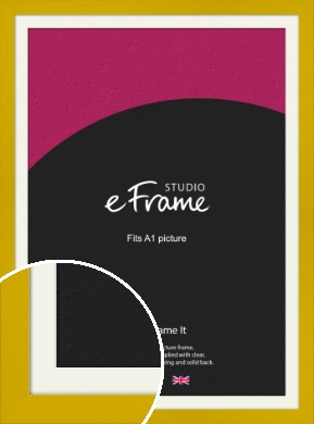 Sunflower Yellow Picture Frame & Mount, A1 (594x841mm) (VRMP-851-M-A1)