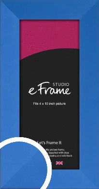 Ocean Blue Picture Frame, 4x10