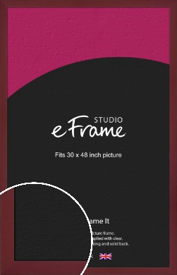 Sangria Red Picture Frame, 30x48