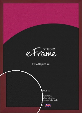 Sangria Red Picture Frame, A0 (841x1189mm) (VRMP-856-A0)