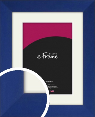 Ultramarine Blue Picture Frame & Mount (VRMP-857-M)