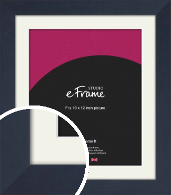 Aegean Blue Picture Frame & Mount, 10x12