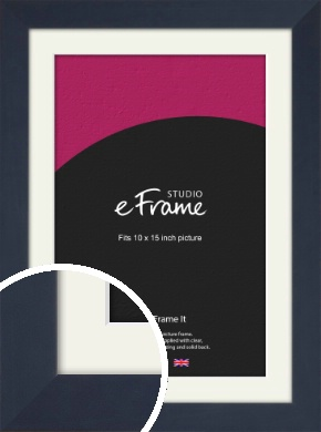 Aegean Blue Picture Frame & Mount, 10x15