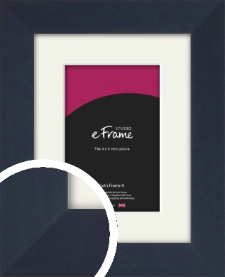 Aegean Blue Picture Frame & Mount, 4x6