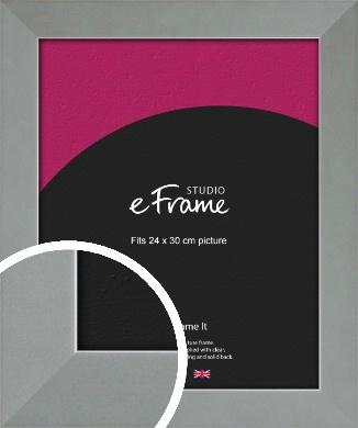 Gallery Satin Silver Picture Frame, 24x30cm (VRMP-860-24x30cm)