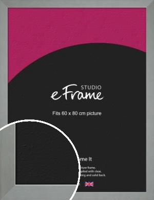 Gallery Satin Silver Picture Frame, 60x80cm (VRMP-860-60x80cm)