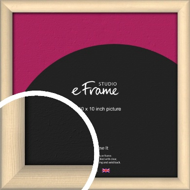 Refined Scandinavian Natural Wood Picture Frame, 10x10