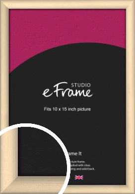 Refined Scandinavian Natural Wood Picture Frame, 10x15