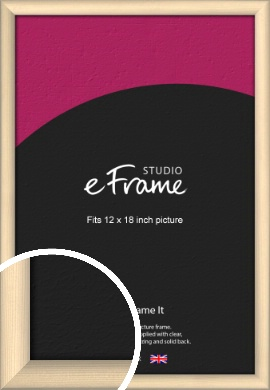 Refined Scandinavian Natural Wood Picture Frame, 12x18