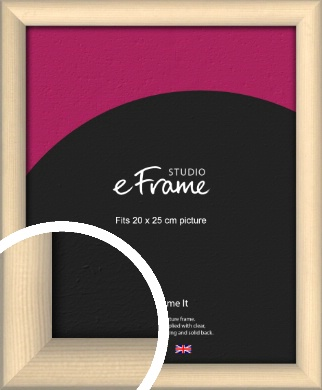 Refined Scandinavian Natural Wood Picture Frame, 20x25cm (8x10